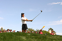 March 26, 2005; Rancho Mirage, CA, USA;  15 year old amateur Michelle Wie tees off at the 11th hole during the 3rd round of the LPGA Kraft Nabisco golf tournament held at Mission Hills Country Club.  Wie shot a 1 over par 73 for the day and was tied for 21st at one over par 217.<br />Mandatory Credit: Photo by Darrell Miho <br />&copy; Copyright Darrell Miho