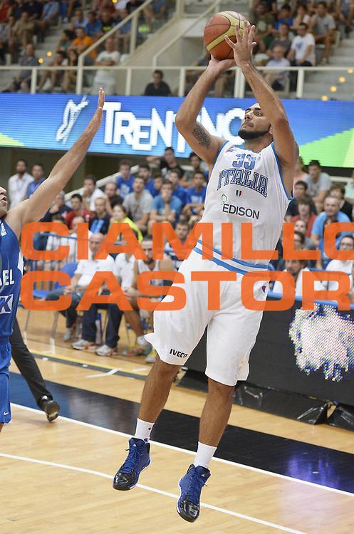 DESCRIZIONE : Trentino Basket Cup Italia-Israele<br /> GIOCATORE : Pietro Aradori<br /> CATEGORIA : tiro<br /> SQUADRA : Nazionale Italiana<br /> EVENTO : Trentino Basket Cup<br /> GARA : Italia-Israele<br /> DATA : 08/08/2013<br /> SPORT : Pallacanestro <br /> AUTORE : Agenzia Ciamillo-Castoria/R. Morgano<br /> Galleria : FIP nazionali 2013  <br /> Fotonotizia : Trentino basket cup Italia-Israele<br /> Predefinita :