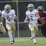 Salesianum running back John Andreoli (2) returns a punt for 55-yard in the second quarter during a regular season football game between No. 2 Salesianum and No.1 William Penn Saturday, Oct. 31, 2015 at William Penn High School in New Castle.
