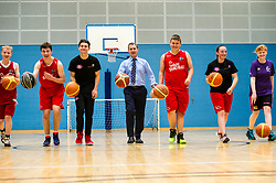 Pictured: <br /> Today, Justice Secretary Michael Matheson visited the Raploch community campus and met young people involved in CashBack-funded basketball sessions. <br />  <br /> Ger Harley | EEm 11 July  2017