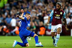 Gylfi Sigurdsson of Everton takes on Douglas Luiz of Aston Villa - Mandatory by-line: Robbie Stephenson/JMP - 23/08/2019 - FOOTBALL - Villa Park - Birmingham, England - Aston Villa v Everton - Premier League