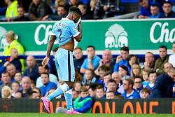 Raheem Sterling of Manchester City is substituted - Mandatory byline: Matt McNulty/JMP - 07966386802 - 23/08/2015 - FOOTBALL - Goodison Park -Everton,England - Everton v Manchester City - Barclays Premier League