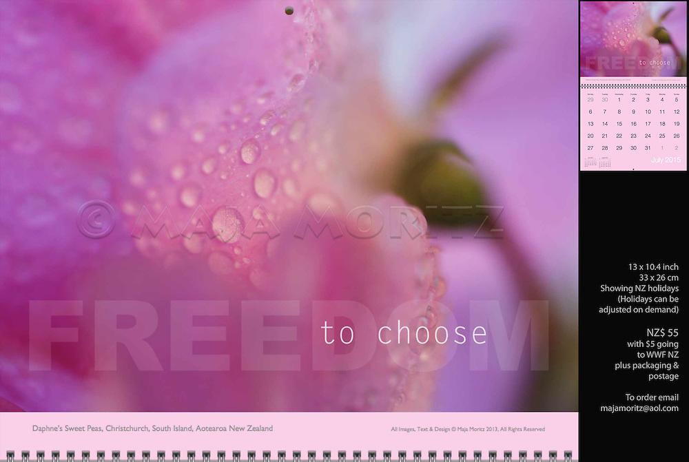 Freedom to choose, Daphne's Sweet Peas, Christchurch, South Island, Aotearoa, New Zealand