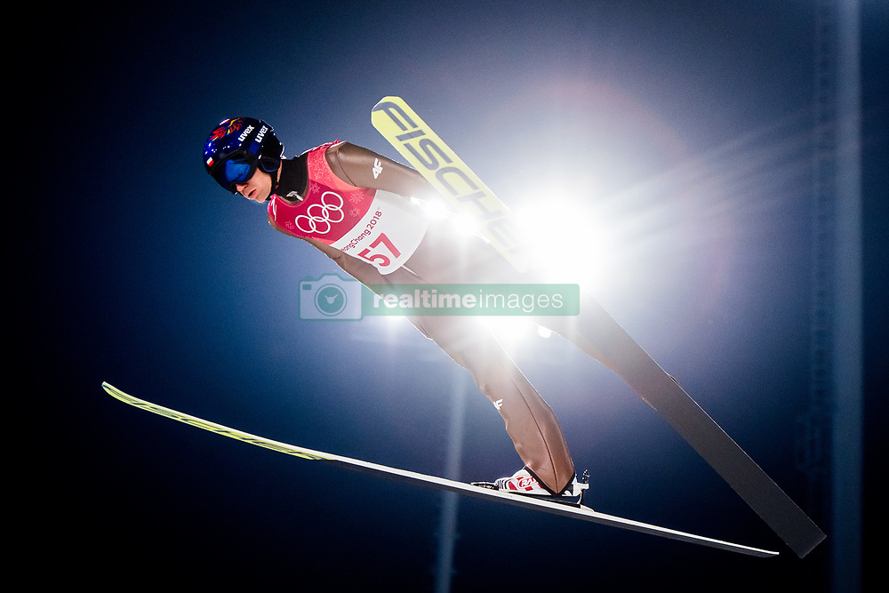 February 8, 2018 - Pyeongchang, South Korea - KAMIL STOCH of Poland competes during the Men's Normal Hill Individual Qualification Trial ahead of the 2018 Winter Olympics in Pyeongchang. Stoch finished in 2nd place and qualified. (Credit Image: © Jon Olav Nesvold/Bildbyran via ZUMA Press)