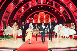 Gemma Atkinson, Alexandra Burke, Susan Calman, Davood Ghadami, Joe McFadden, Debbie McGee, Jonnie Peacock, Aljaz Skorjanec, Gorka Marquez, Kevin Clifton, Nadiya Bychkova, Katya Jones, Giovanni Pernice and Oti Mabuse performing on stage during photocall before the opening night of Strictly Come Dancing Tour 2018 at Arena Birmingham in Birmingham, UK. Picture date: Thursday 18 January, 2018. Photo credit: Katja Ogrin/ EMPICS Entertainment.