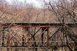 Old vintage rusty relic railroad trestle