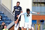 Leeds United defender Liam Cooper (6) and Blackburn Rovers striker Danny Graham (10) during the EFL Sky Bet Championship match between Blackburn Rovers and Leeds United at Ewood Park, Blackburn, England on 20 October 2018.