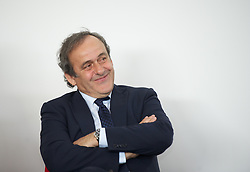 NEWPORT, WALES - Saturday, April 20, 2013: UEFA President Michel Platini at the opening of the FAW National Development Centre in Newport. (Pic by David Rawcliffe/Propaganda)