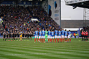 Minuets applause in memory of former Pompey midfielder Bobby Doyle during the EFL Sky Bet League 1 match between Portsmouth and Bradford City at Fratton Park, Portsmouth, England on 2 March 2019.