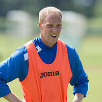 St Johnstone's Steven Anderson pictured in training...08.07.13<br /> Picture by Graeme Hart.<br /> Copyright Perthshire Picture Agency<br /> Tel: 01738 623350  Mobile: 07990 594431
