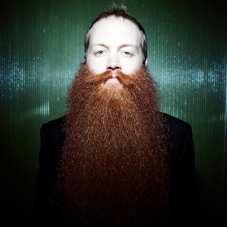 ANCHORAGE, ALASKA - 2009: World Beard and Moustache Championships. Jack Passion natural full beard champion.