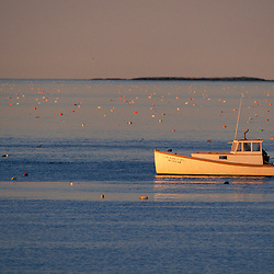 Great Wass Island, ME. A lobster boat near Black Duck Cove off the coast of Great Wass Island in Down East Maine.