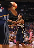 Aug 8, 2010; Phoenix, AZ, USA; Indiana Fever guard Shavonte Zellous makes a pass during the first half at US Airways Center.  The Fever defeated the Mercury 104-82.  Mandatory Credit: Jennifer Stewart-US PRESSWIRE