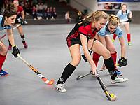 HAMBURG  (Ger) - Rotweiss Wettingen (Sui)  v  MHC Laren (Ned).  foto: Johanna Wenz Wett) with Lisanne de Lange (Laren)  , Eurohockey Indoor  Club Cup 2019 Women . WORLDSPORTPICS COPYRIGHT  KOEN SUYK