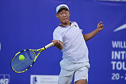 LIVERPOOL, ENGLAND - Thursday, June 20, 2019: Chun-Hsin Tseng (TPE) during the Liverpool International Tennis Tournament 2019 at the Liverpool Cricket Club. (Pic by David Rawcliffe/Propaganda)