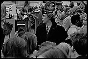Madison, WI – May, 1970. Protesters against the war in Vietnam on the steps of the Capitol, led by Veterans for Peace in Vietnam. On May 1, 1970, there was a general student strike in response to the news that the U.S. had expanded bombing into Cambodia. There was a march against the war, led by Veterans for Peace in Vietnam; and after the May 4 shootings at Kent State University in Ohio, there were more protests at UW Madison, which led to the police being called in, and teargassing demonstrators in the streets and on campus. Veterans on the steps of the State Capitol.