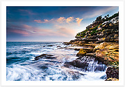 Late afternoon at Mackenzies Point, between Bondi and Tamarama beaches [Sydney, NSW, Australia]<br />