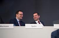DEU, Deutschland, Germany, Leipzig, 22.11.2019: Bundesgesundheitsminister Jens Spahn (CDU) und Mike Mohring, CDU-Landeschef in Thüringen, beim Bundesparteitag der CDU in der Messe Leipzig.