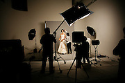 "Wednesday March 5th 2008.  .Issy les Moulineaux (Hauts de Seine), France.In the photo studios of the press group Marie-Claire (During a shoot for the magazine ""Mariages"").."