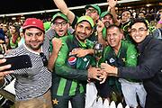 Pakistan captain Sarfraz Ahmed with fans.<br /> Pakistan tour of New Zealand. T20 Series. 3rd Twenty20 international cricket match, Bay Oval, Mt Maunganui, New Zealand. Sunday 28 January 2018. © Copyright Photo: Andrew Cornaga / www.Photosport.nz