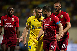 Agim Ibraimi of NK Domzale and Bojan Jokic of FC Ufa during 2nd Leg football match between NK Domzale and FC Ufa in 2nd Qualifying Round of UEFA Europa League 2018/19, on August 2, 2018 in Sports Park Domzale, Domzale, Slovenia. Photo by Urban Urbanc / Sportida