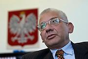 24.08.2006 Warsaw Poland. vice prime minister Ludwik Dorn of PiS in his cabinet Fot Piotr Gesicki