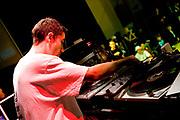 DJ playing music. UK B-Boy championships 06. 08/10/2006
