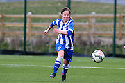 Charlotte Gurr in action during the FA Women's Premier League match between Brighton Ladies and Cardiff City Ladies at Brighton's Training Ground, Lancing, United Kingdom on 22 March 2015. Photo by Geoff Penn.