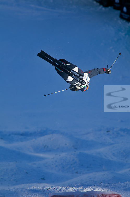DEER VALLEY, USA - FEBRUARY 2:  Prenom Nom of Pays during the FIS Freestyle World Ski Championship Moguls on February 2, 2011 in Deer Valley, USA.  (Photo by Jonathan Selkowitz/Agence Zoom)