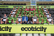 Forest Green Rovers squad photo 2017/18 with club sponsor Grundon during the Forest Green Rovers Photocall at the New Lawn, Forest Green, United Kingdom on 31 July 2017. Photo by Shane Healey.