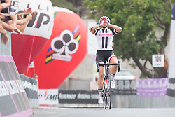 Lucinda Brand (NED) of Team Sunweb wins Stage 8 of the Giro Rosa - a 141.8 km road race, between Baronissi and Centola fraz. Palinuro on July 7, 2017, in Salerno, Italy. (Photo by Balint Hamvas/Velofocus.com)