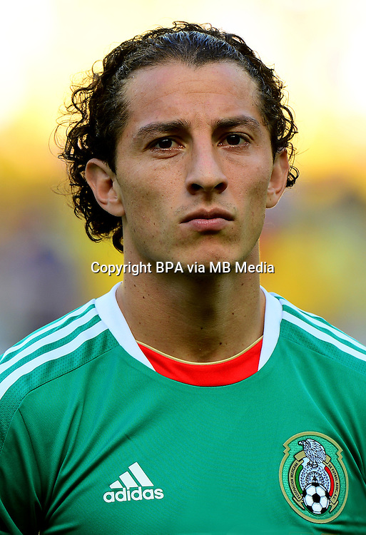 Fifa Brazil 2013 Confederation Cup / Group A Match / <br /> Brazil vs Mexico  2-0  ( Arena Castelao Stadium - Fortaleza , Brazil )<br /> Andres GUARDADO  of Mexico ,during the match between Brazil and Mexico