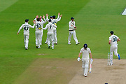 Wicket - Peter Siddle of Australia celebrates taking the wicket of Jonny Bairstow of England during the International Test Match 2019 match between England and Australia at Edgbaston, Birmingham, United Kingdom on 3 August 2019.