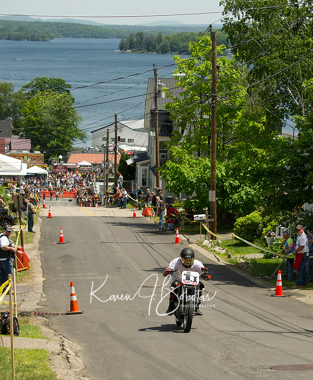 Tower Hill Climb racing in Weirs Beach on Tuesday.  (Karen Bobotas/for the Laconia Daily Sun)