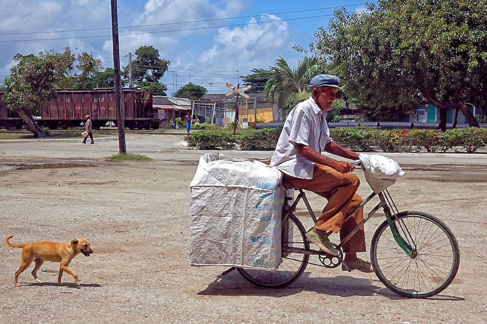 Bicycle delivery in Jesus Menendez, Las Tunas, Cuba.