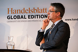 UK ENGLAND LONDON 22JUN16 - Gabor Steingart, publisher of Handelsblatt speaks during a podium discussion hosted by Handelsblatt at the Beagle Bar & Restaurant, Hoxton, London.<br /> <br /> jre/Photo by Jiri Rezac<br /> <br /> © Jiri Rezac 2016