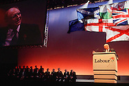 Neil Kinnock, Labour Party leader speaking at the parties 'infamous' 1992 General Election rally in Sheffield