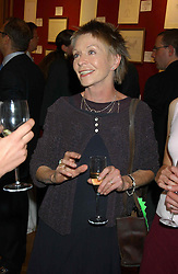Actress SUSANNAH YORK at a private view and auction of a collection of paintings, drawings and doodles by well known personalities to mark the Book launch of Ackroyd's Ark in Christie's, 8 King Street, St.James's, London on 20th September 2004 in aid of Tusk Trust.<br /><br />NON EXCLUSIVE - WORLD RIGHTS