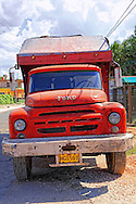 Russian truck pretending to be a Ford in Playa Baracoa, Artemisa, Cuba.