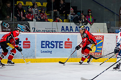 01.01.2018, Ice Rink, Znojmo, CZE, EBEL, HC Orli Znojmo vs Fehervar AV 19, 35. Runde, im Bild v.l. Josef Zajíc (HC Orli Znojmo) Jiri Beroun (HC Orli Znojmo) // during the Erste Bank Icehockey League 35th round match between HC Orli Znojmo and Fehervar AV 19 at the Ice Rink in Znojmo, Czech Republic on 2018/01/01. EXPA Pictures © 2018, PhotoCredit: EXPA/ Rostislav Pfeffer