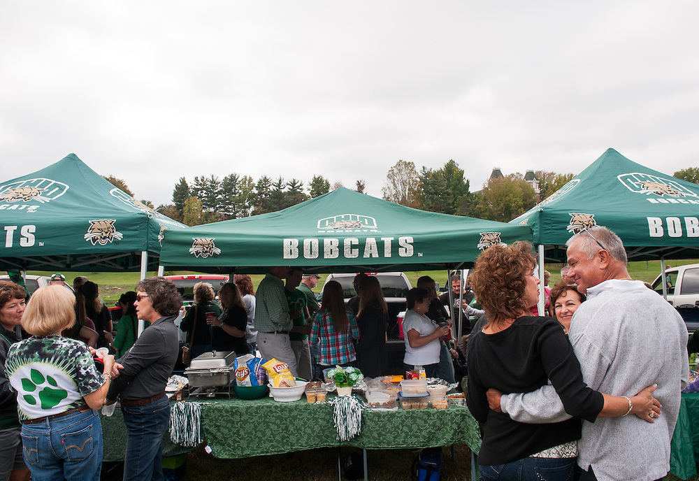 Tents set up during Ohio Univeristy's Homecoming 2013 Tailgate. Photo by Elizabeth Held