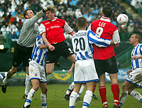 Photo: Scott Heavey<br />Brighton & Hove Albion V Rotherham United. 08/03/03  Nationwide Div 1 <br /><br />Dave Beasant the Brighton keeper punches clear from the head of Dean Blackwell