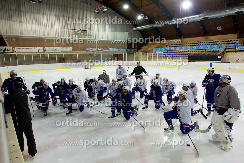 Practice session of Slovenian U20 ice-hockey team, on December 08, 2011 in Ledena dvorana, Bled, Slovenia. (Photo By Vid Ponikvar / Sportida.com)