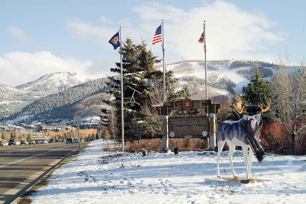 artistic moose around Park City, Utah