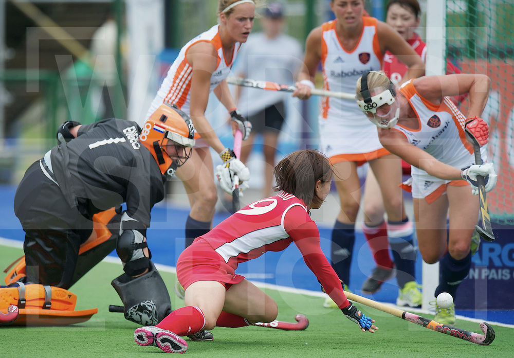 ROSARIO - Champions Trophy women.Netherlands v Japan.foto: Kaori Fujio almost scores..FFU Press Agency  COPYRIGHT FRANK UIJLENBROEK..