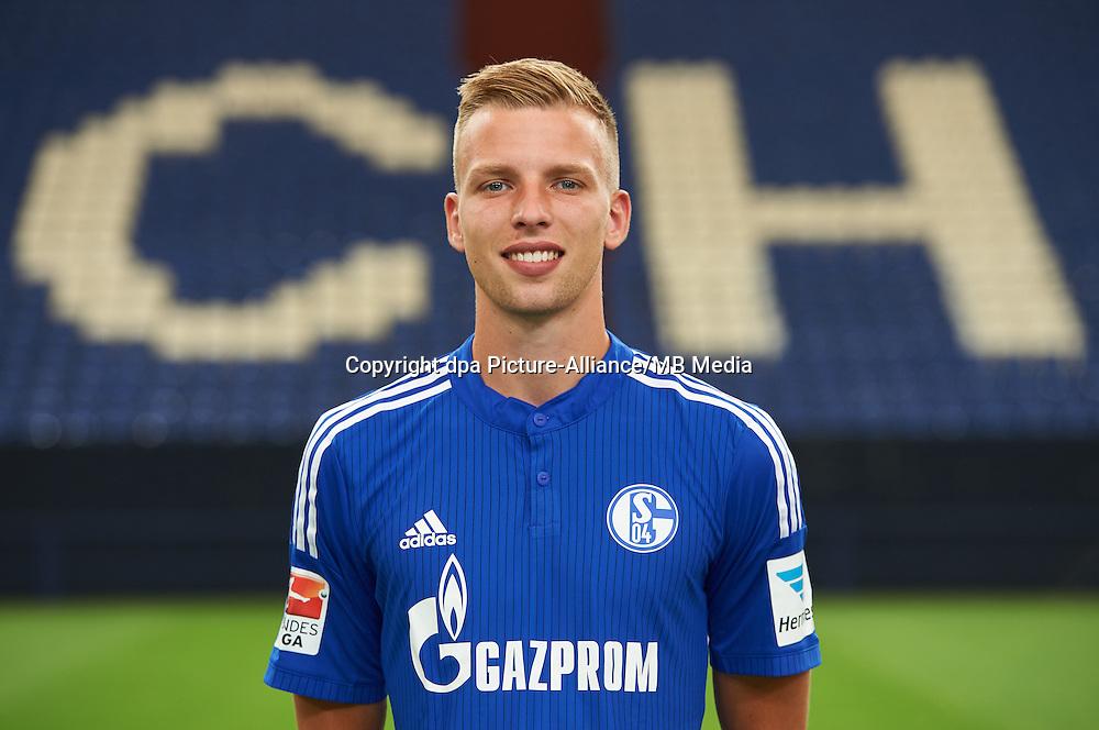 German Soccer Bundesliga 2015/16 - Photocall of FC Schalke 04 on 17 July 2015 in Gelsenkirchen, Germany: Marvin Friedrich.