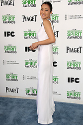Gong Li at the 2014 Film Independent Spirit Awards Arrivals, Santa Monica Beach, Santa Monica, United States, Saturday, 1st March 2014. Picture by Hollywood Bubbles / i-Images<br /> UK ONLY