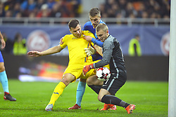 November 14, 2017 - Bucharest, Romania - Romania's George Tucudean vies Netherlands's Veltman and Cillessen in action during International Friendly match between Romania and Netherlands at National Arena Stadium in Bucharest, Romania, on 14 november 2017. (Credit Image: © Alex Nicodim/NurPhoto via ZUMA Press)