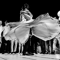 Linda & Daniel's spectacular first dance during their reception at the Velas Vallarta Resort. Photo by: Melissa Suneson.