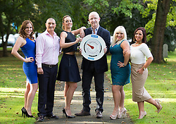 Repro Free: 30/09/2014 <br /> Oeperation Transformation presenters Kathryn Thomas and John Murray pictured with Siobhan McKillen, Marc Gibbs, Deirdre O&rsquo;Donovan and Jennifer Bonus  Operation Transformation 2013 as RT&Eacute; put the call out for leaders for the upcoming Operation Transormation 2014. http://www.rte.ie/ot . Picture Andres Poveda
